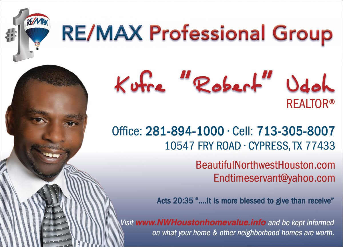 "Remax Professional Group - Kufre ""Robert"" Udoh"