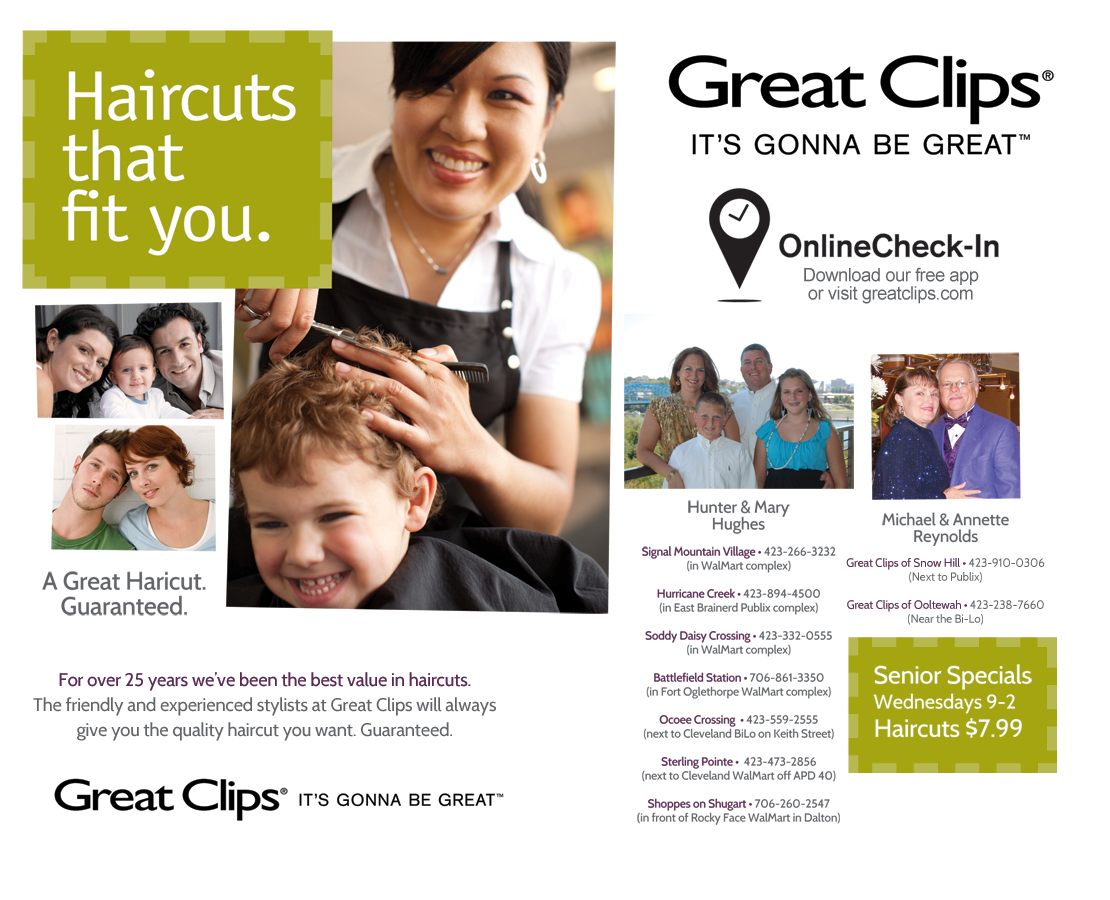 Great Clips - Sterling Pointe (next to the Cleveland WalMart off APD 40)