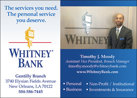 S In Business Whitney Bank Details